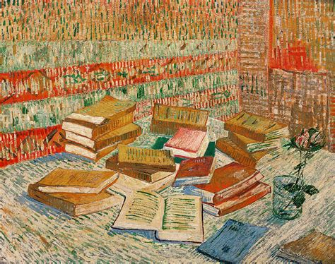 painting in the books the yellow books painting by vincent gogh