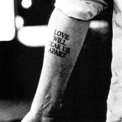 tattoo love will tear us apart joy division song love will tear us apart tattoo ink