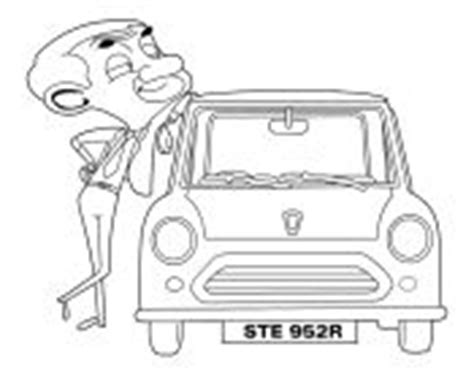 coloring pages mr bean car mr been cartoon characters free coloring sheet for drawing