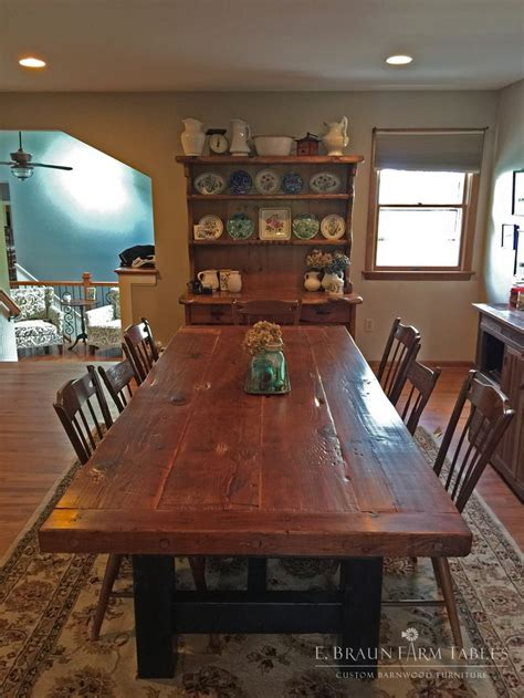 Barn Wood Dining Room Table by 1000 Images About Reclaimed Barn Wood Furniture By E