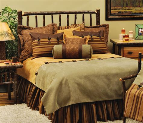 Log Cabin Bed Sets Rustic Cabin Furnishings Luxury Bedding