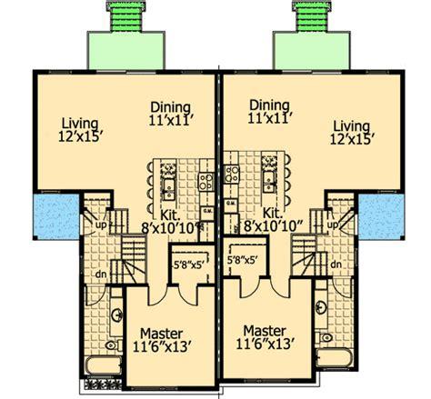 sleek two family home plan 90243pd 1st floor master