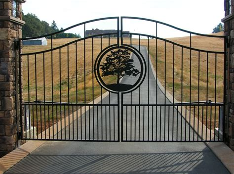 Decorative Gates by Ornamental Iron Gates Outdoor Fence
