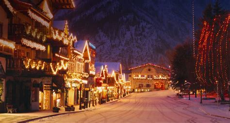 leavenworth christmas lighting the evergreen scene
