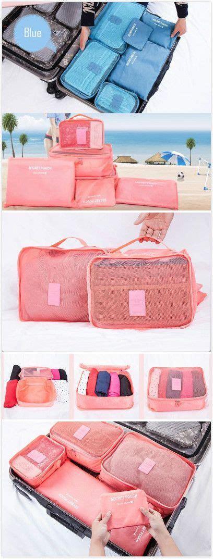 Traveling Bag Organizer 6pcs dixiu 6pcs portable multifunctional traveling luggage bag