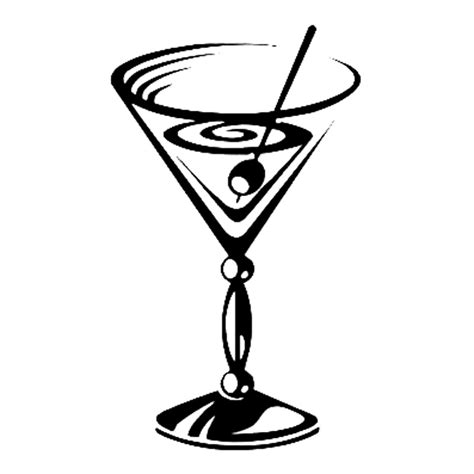 martini drawing clipart cocktail pencil and in color