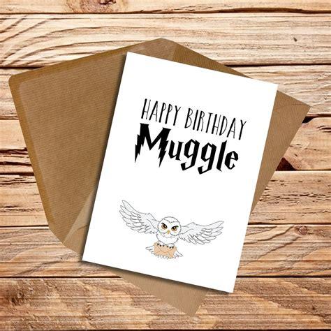 Harry Potter Themed Birthday Cards Birthday Card Handmade Harry Potter Muggle Ebay