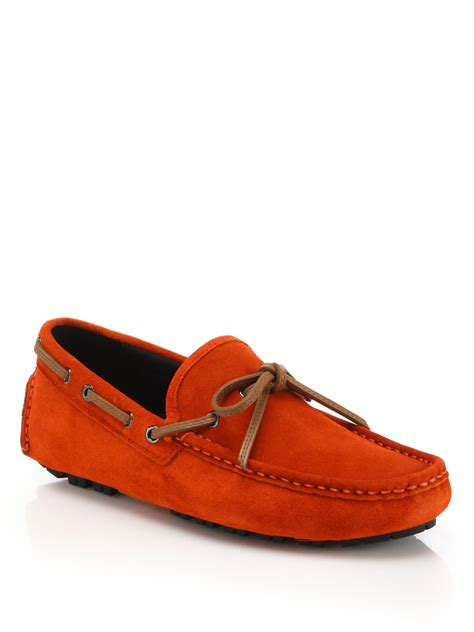mens coach loafers lyst coach crosby suede driving loafers in for