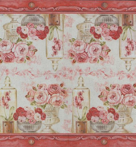 Decoupage Napkin - decoupage paper napkins of shabby roses on a mantle