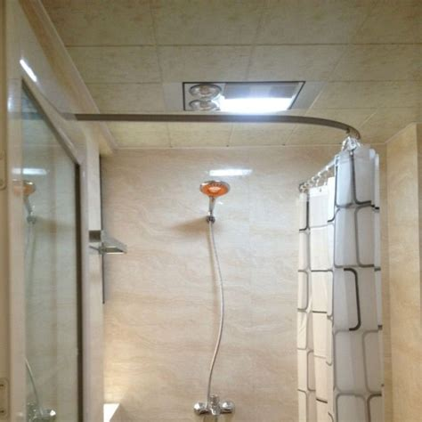 how to make a curved shower curtain rod the new l shaped shower curtain rod curved shower curtain