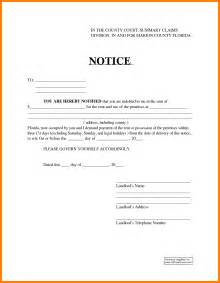 13 15 day notice to vacate florida aplication format