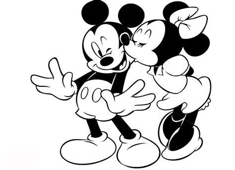 imagenes de mickey mouse y mimi en blanco y negro dibujos para colorear maestra de infantil y primaria