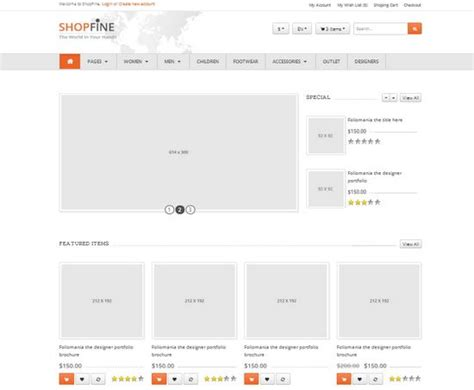 bootstrap shopping template 33 free and premium html css ecommerce website templates