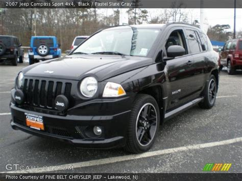 Jeep Compass Black Black 2007 Jeep Compass Sport 4x4 Pastel Slate Gray