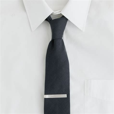 j crew sterling silver tie clip in silver for lyst