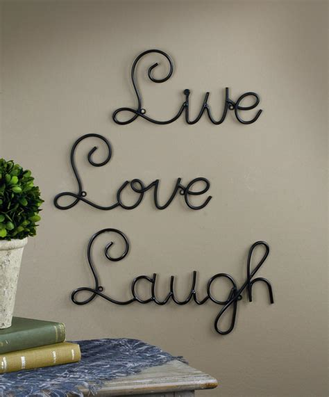 words for the wall home decor wall decor words 28 images live laugh words metal wall