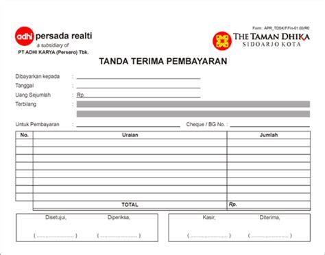 Contoh Kwitansi Tanda Terima by Nota Bon Faktur Kwitansi Invoice Percetakan Di Malang