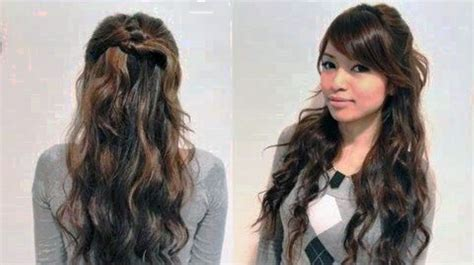 cute hairstyles for curly hair ideas simple hairstyle