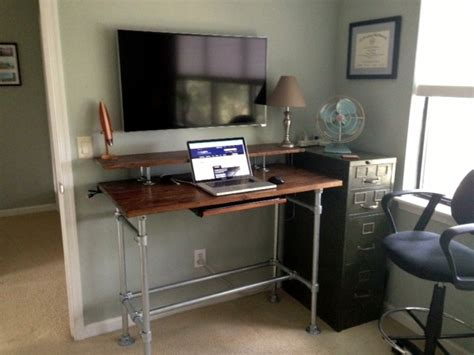 stand up l with shelves kee kl standing desk the rugged table kit