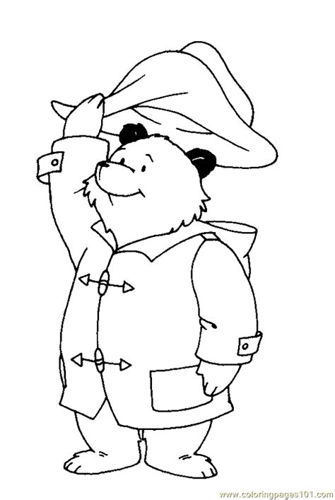 kids page paddington bear coloring pages
