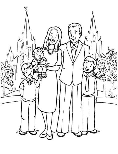 coloring pages of nuclear family joint family clipart black and white clipartxtras