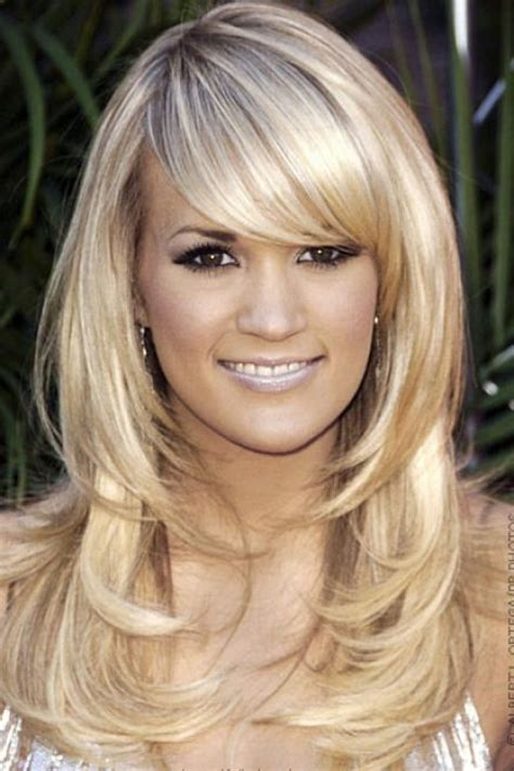long straight hairstyles layered toward face medium hairstyles for oval faces