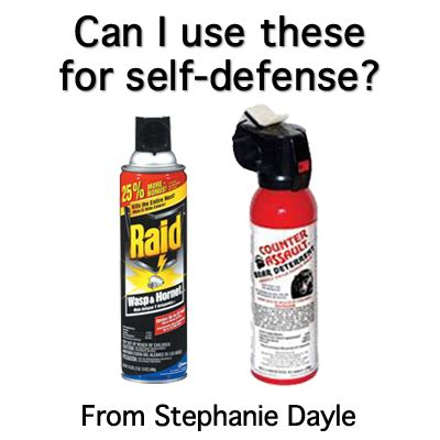 does spray or wasp spay work for self defense