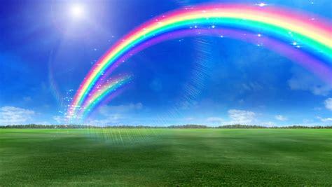 Rainbow Green rainbow green grass stock footage 686974