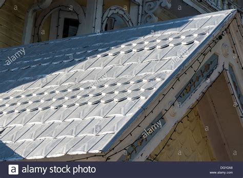 decorative tile roofing vintage style decorative scalloped sted metal roofing