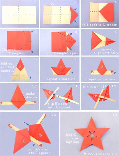 Steps To Paper - steps for paper folding crafts