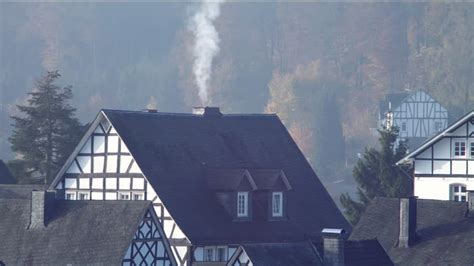 Smoke Comes Out Of Fireplace by Maison 224 Colombages Freudenberg Allemagne Hd Stock