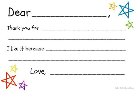 fill in the blanks thank you letter fill in the blank thank you note free printable