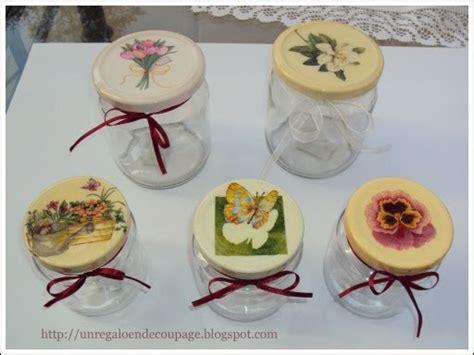 frascos decorados regalo un regalo en decoupage tapa de frascos decorados