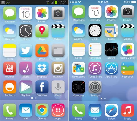 ios on android ios 7 est d 233 j 224 sur android