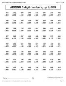 grade 3 math worksheets vertical addition