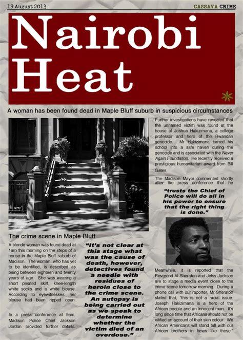 Nairobi Heat august edition of literary in a nutshell