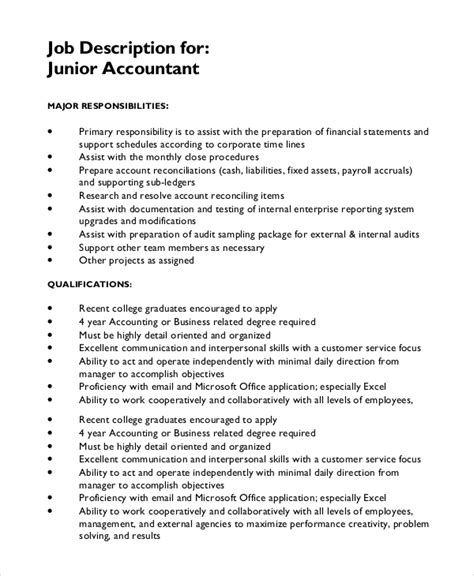 accountant description 13 description templates