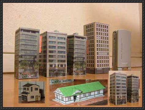 How To Make Paper Models Of Buildings - new paper craft several japanese building paper models