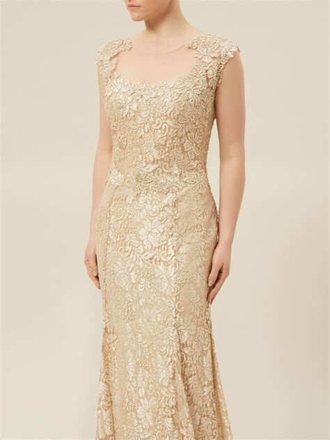gold beaded evening gown jacques vert lace beaded evening dress in gold neutral