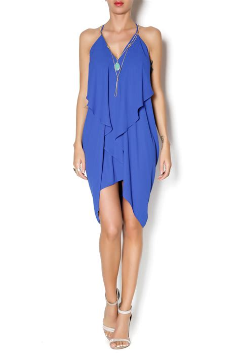 Flowy Blue Sarfana 1 olivaceous cobalt blue flowy dress from miami by chica shoptiques