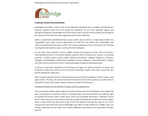 co promotion agreement template 14 promotion agreement exles pdf doc