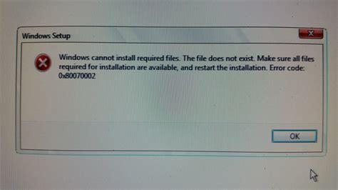 install windows 10 error windows 10 install error 0x80070002 dsi tech services llc