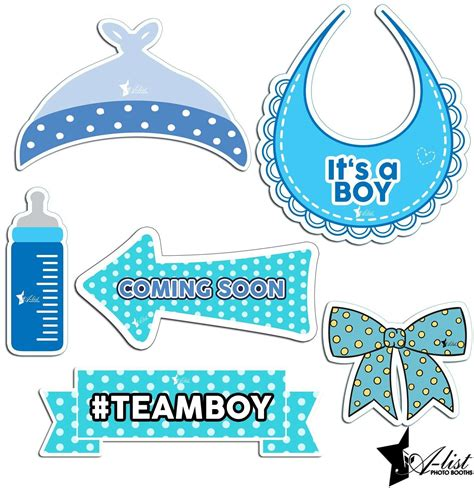 Free Printable Boy Baby Shower Photo Booth Props Baby Shower Free Printable Baby Shower Booth Baby Shower Photo Booth Templates