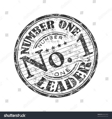 Number One Search Black Grunge Rubber St With The Text Number One Leader Written Inside The St