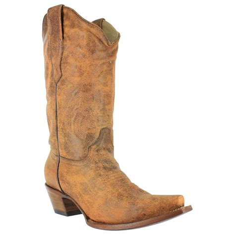 corral distressed snip toe western boots for tommp