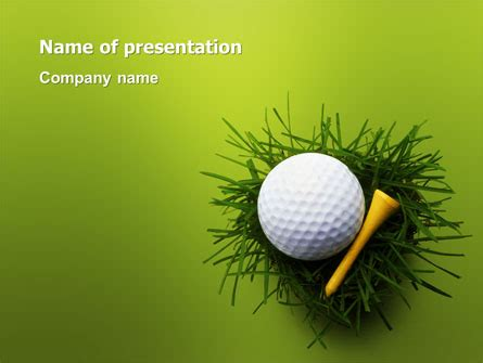 Golf Ball In The Nest Powerpoint Template Backgrounds Golf Powerpoint Template