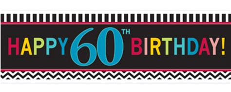60th Birthday Banner Printable Banner Template 60th Birthday Banner Template