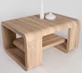 table basse design en chene