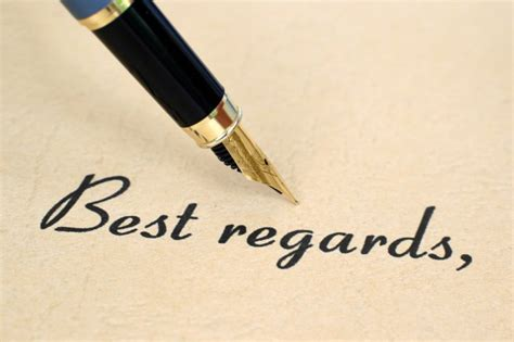 signing a business letter best regards with best regards closing your letter