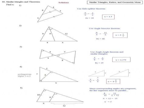 similar right triangles worksheet number line worksheets 187 similarities in right triangles